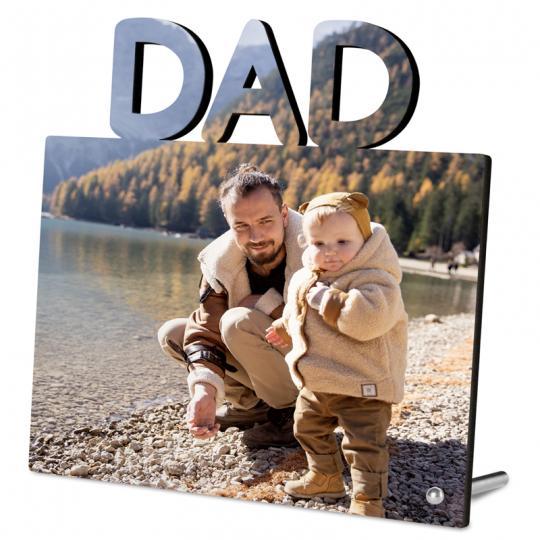 Fotoaufsteller mit Schriftzug DAD