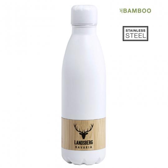 Trinkflasche 750 ml mit natürlichem Bambusring