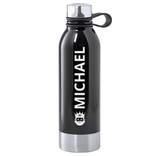 Premium Trinkflasche 740 ml in schwarz
