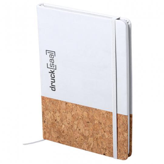 Notizbuch in weiß mit Kork