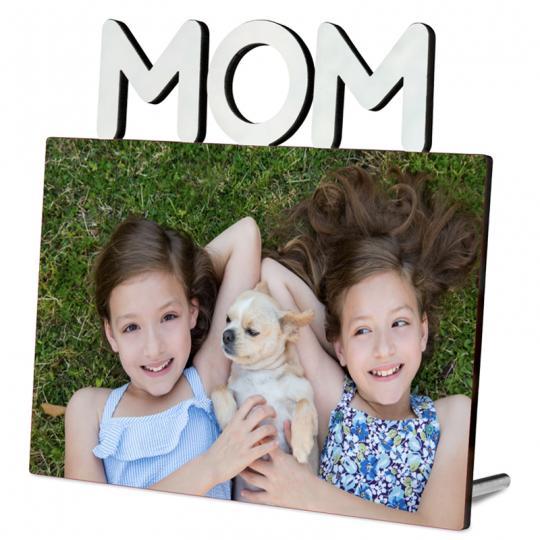 Fotoaufsteller mit Schriftzug MOM