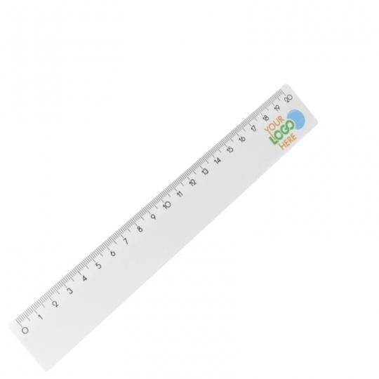 Lineal aus Kunststoff in weiß 20 cm