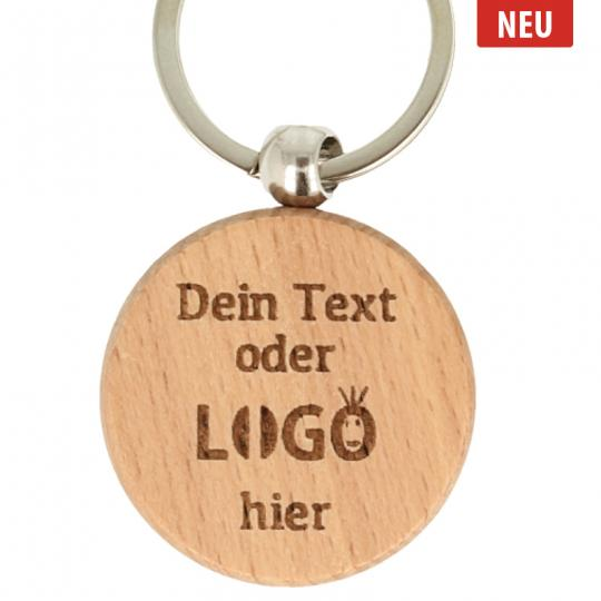 Holz Schlüsselanhänger mit Gravur